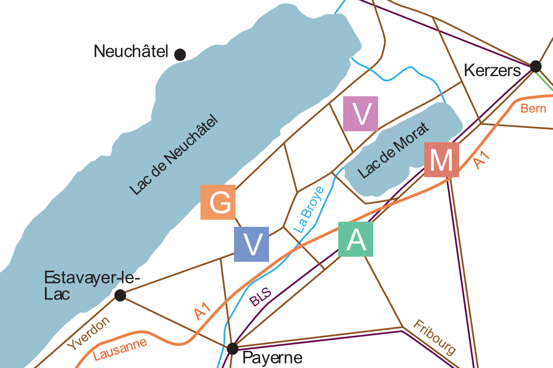 carte 5 sites une région