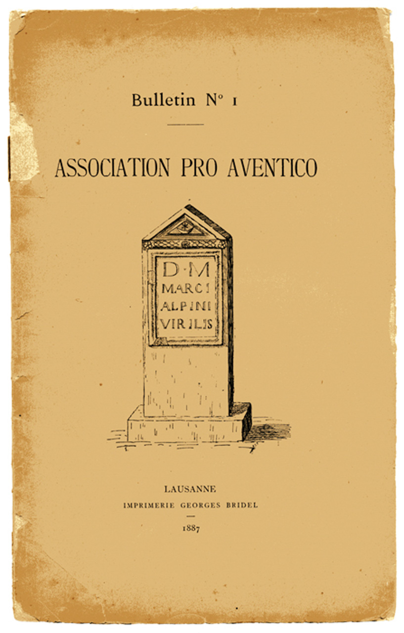Association Pro Aventico Bulletin n°1